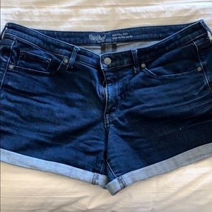 Mossimo dark blue jean shorts